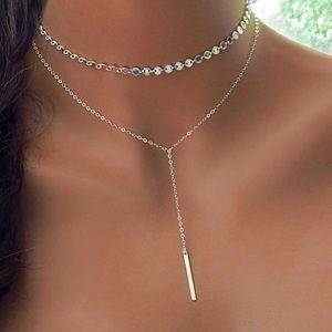 20% OFF 2+✨ boho layered necklace silver